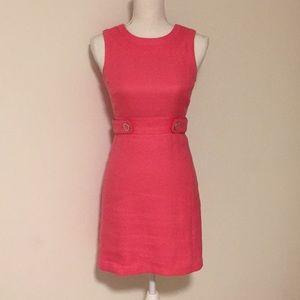 Tory Burch Pink Tweed Sleeveless Dress!!